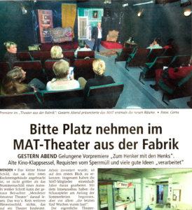 Pressebericht Eröffnung Theater