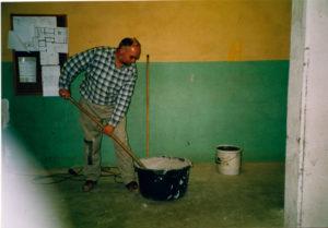 Ulrich Stolte beim Bau